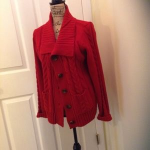 St Johns Bay Womens Red Sweater